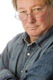 age glasses man middle relaxed senior στοκ φωτογραφίες