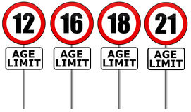 Age limit Royalty Free Stock Image