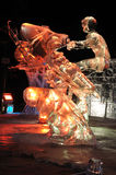 Age of the Mechanical Musher Ice Sculpture Royalty Free Stock Image