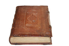 Age-old book. On a white background Royalty Free Stock Images