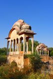 Age old Canopy structures at historic Fatehsagar Water reservoir in Jhunjhunu Rajasthan India Royalty Free Stock Images