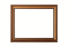 Age-old frame for pictures. Royalty Free Stock Photography