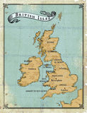 Age-old map British Isles. Modern age-old map of British Isles vector illustration