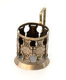 Age-old metallic glass-holder. Royalty Free Stock Images