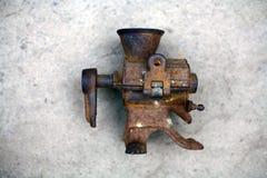 Age-old metallic object stock image