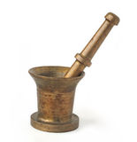 Age-old mortar with pestle stock photo
