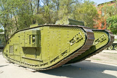Age-old  tank of Мк V, male Royalty Free Stock Photography