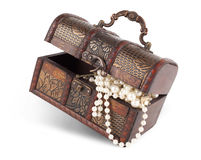 Age-old trunk with valuables Royalty Free Stock Photos