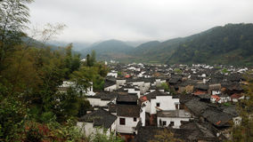 An age-old village. In Wuyuan, Jiangxi Province.It embodies the harmony between man and nature's way of life Stock Photo