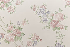 Age-old Wallpapers As A Background From Flowers Stock Photography