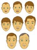 Age Progression of a White (caucasian) Male. A White (Caucasian) Male in various stages of life Stock Images