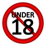 18 age restriction sign. 18 age restriction sign on white background. Illustration vector illustration