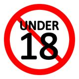 18 age restriction sign. 18 age restriction sign on white background. Vector illustration vector illustration