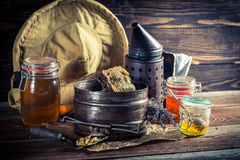 Age tools for beekeeping Stock Images