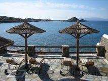 Agean sea from mykonos Royalty Free Stock Image
