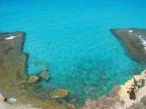 Ageba海滩在Marsa马特鲁 库存照片