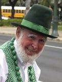 Aged. Jack (Soccer)Sullivan is proof the Irish never grow too old to enjoy a Saint Patrick's Day parade (Honolulu, Hawai'i, 17.III.08 Royalty Free Stock Photo