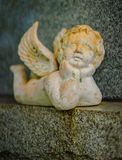 A grave decoration or grave statue royalty free stock photography