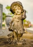 A grave decoration or grave statue stock photos