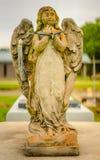 A grave decoration or grave statue stock photo