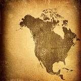 Aged America map Royalty Free Stock Images