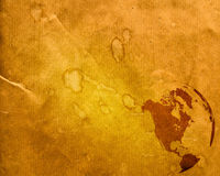Aged America map Stock Photography