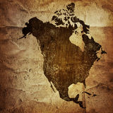 Aged America map vintage Stock Photos