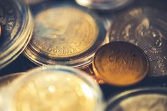Aged American Coins Collection Stock Photography