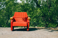 Aged armchair. Royalty Free Stock Photography