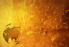 Aged asia map. Vintage artwork for your design Royalty Free Stock Photography