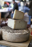 An aged authentic parmigiano reggiano parmesan cheese with wrapp Stock Photography