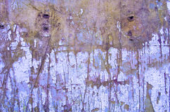Aged Background With Peeling Paint. Cracked Paint On A Wooden Wall. Grunge Background. Old Scratched Painted Wood Surface. Wooden