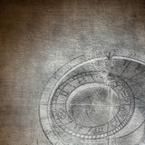 Aged background with zodiac clock Royalty Free Stock Photography