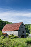 Aged Barn on Farmland royalty free stock photography