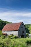Aged Barn on Farmland Royalty Free Stock Photography
