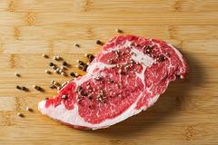 Aged beef ribeye with pepper Stock Image