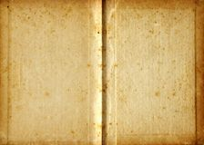 Aged blank book. Vintage book pages stock photos