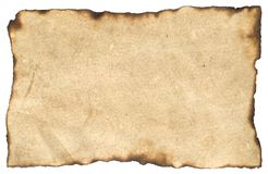 Aged Blank Parchment Paper Royalty Free Stock Photo