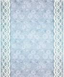 Aged Blue Floral Lace Royalty Free Stock Image