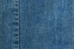 Aged blue jeans Texture for background Stock Photography