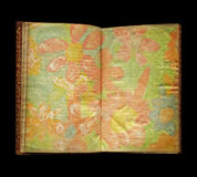 Aged book with flowers Royalty Free Stock Image