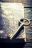 Aged books and keys Stock Images