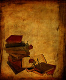 Aged Books and Roses Royalty Free Stock Photos