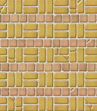 Aged Brick & Tile Pattern Royalty Free Stock Photography