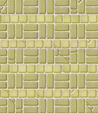 Aged Brick & Tile Pattern Stock Photography