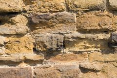 Aged brick wall Royalty Free Stock Images