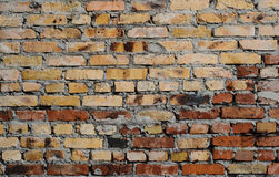 Aged brick wall background Stock Photography