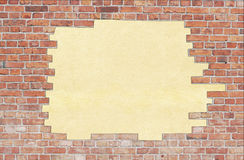 Aged brick wall texture Stock Photos