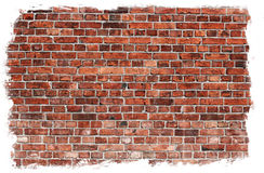 Aged brick wall texture Stock Images