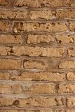 Aged bricks brown background wall Stock Images